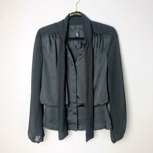 Kenneth Cole Black Silky Blouse